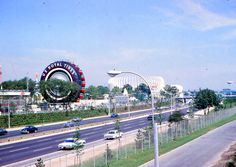 "A photo of the US Royal Tire Ferris Wheel from the 1964 World's Fair. Credit: Gary W. Clark. Read more on the GenealogyBank blog: ""1964 World's Fair: History, Photos & Memorabilia."" http://blog.genealogybank.com/1964-worlds-fair-history-photos-memorabilia.html"