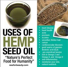 Uses of hemp seed oil.