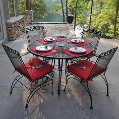 maintain table rod iron patio furniture