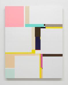 "Richard Schur [Germany] (b 1971) ~ ""Fleur"", 2011. Acrylic on canvas (99 x 81 cm). | #art #painting #abstract #hardedge #minimalart"