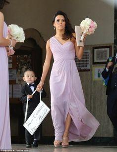 Eva Longoria wearing Cesare Paciotti platform sandals Eva Longoria Bridesmaid at a Friend's Wedding June 2014