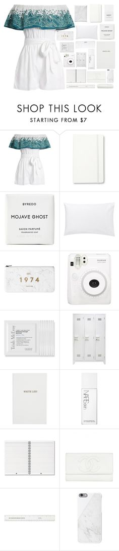 """Pure"" by korrashay ❤ liked on Polyvore featuring Mara Hoffman, Moleskine, Nails Inc., Byredo, Jigsaw, Fuji, Trish McEvoy, Conair, Sloane Stationery and NARS Cosmetics"