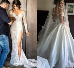 Detachable White / Ivory Wedding Dress Bridal Gown Custom Size 6-8-10-12-14-16+ | Clothes, Shoes & Accessories, Wedding & Formal Occasion, Wedding Dresses | eBay!