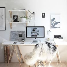 Creative workspace to motivate you to be productive when you work from home