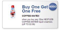 *HOT* BOGO FREE Coffee-Mate Creamer Coupon ($3.99 value!)
