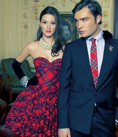 Chuck and Blair. preppy forever. Perfect Christmas Party Attire