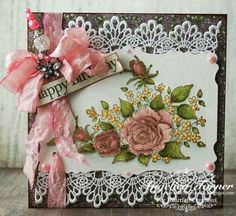 Card designed with Heartfelt Creations stamps and paper.