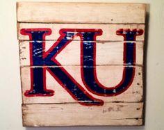 Kansas Jayhawks Sign / University of Kansas Sign - boys room?