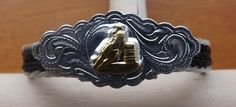 Brown Horse Hair Cuff Bracelet with Silver and Gold Rodeo Style Emblem   eBay