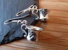 Silver plated earrings cute earrings Silver cup goblet drop earrings metal charm cute earrings cool earrings kitsch 99p Available for sale at etsy.com/uk/shop/tottietootles
