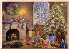 imágenes navideñas con movimiento | Imagenes de noche de navidad con movimiento, hermosa imagen con ...