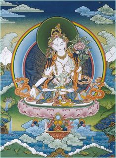 White Tara, known for compassion, long life, healing and serenity