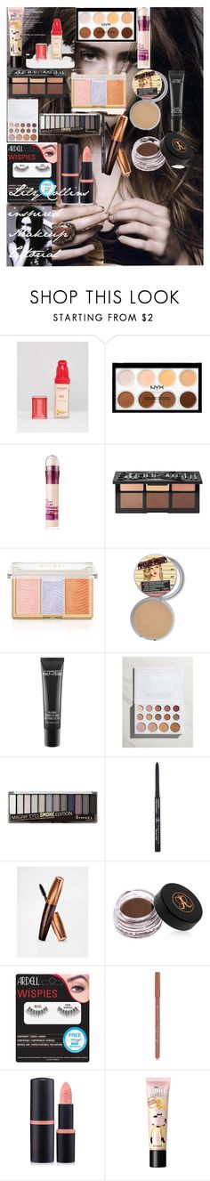 Lily Collins inspired Makeup Tutorial by oroartyellie on Polyvore featuring beauty, Kat Von D, Anastasia Beverly Hills, MAC Cosmetics, BHCosmetics, Bourjois, Rimmel, Forever 21 and Maybelline