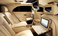 """Bentley Mulsanne Theatre and iPad Options: Make Your """"Occupy"""" Jokes - bit.ly/A0n957"""