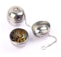 New Stainless Steel Ball Tea Infuser Mesh Filter Strainer w/hook Leaf Hook Spice 4*4.5cm