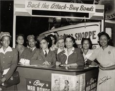"""During World War II, African Americans participated in war bond drives and organized their own drives in their own neighborhoods. Charles """"Teenie"""" Harris, photographer. Courtesy of the Carnegie Museum of Art, Teenie Harris Collection."""