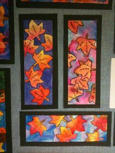 Too fall art projects, classroom art projects, school art projects Fall Art Projects, Classroom Art Projects, School Art Projects, Art Classroom, Art Halloween, Art Du Monde, 2nd Grade Art, Grade 3, Third Grade