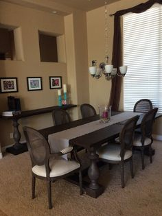 Restoration Hardware Monastery Table And Cane Back Chairs