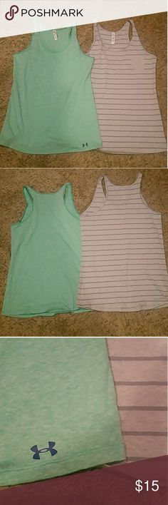 2 Under Armour Tanks Both size small. Both excellent condition. Under Armour Tops Tank Tops