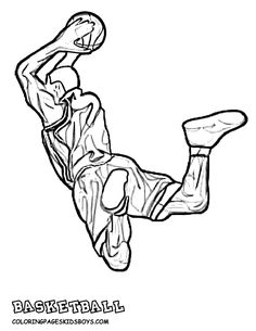 basketball player coloring pages az coloring pages - Basketball Coloring Pages Boys