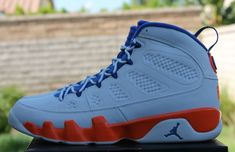 on sale c849d 7dc48 302370 040 Fontay Montana Young Air Jordan 9 Big Boys Shoe Pure Platinum  Game Royal Mandarin