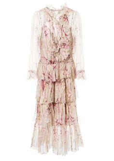ec8377de9e578 ZIMMERMANN Zimmermann Long Printed Muslin Silk Dress.  zimmermann  cloth