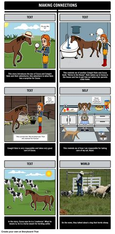 Cowgirl Kate and Cocoa - Making Connections: Making connections is a very important skill to acquire and perfect. Cowgirl Kate and Cocoa is a great story for students to connect to on many different levels.