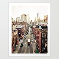 Buy New York City Art Print by Orbon Alija. Worldwide shipping available at Society6.com. Just one of millions of high quality products available.