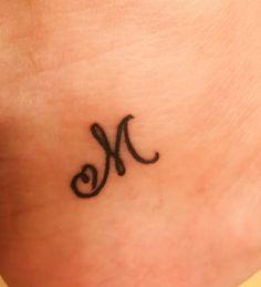 Letter M Tattoos, Initial Tattoo, Dad Tattoos, Spine Tattoos, Tatoos, Subtle Tattoos, Cool Small Tattoos, Tattoos For Women Small, Unique Tattoos