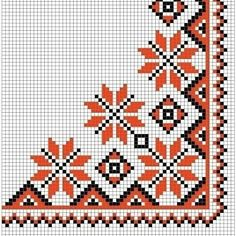 This Pin was discovered by лес Cross Stitch Borders, Cross Stitch Rose, Cross Stitch Flowers, Cross Stitch Charts, Cross Stitch Designs, Cross Stitch Embroidery, Embroidery Patterns, Hand Embroidery, Cross Stitch Patterns
