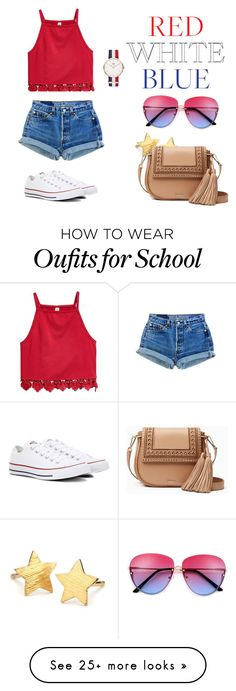 """""""bomb pop look"""" by camarilloamy on Polyvore featuring Converse, Pernille Corydon, Daniel Wellington and Kate Spade"""