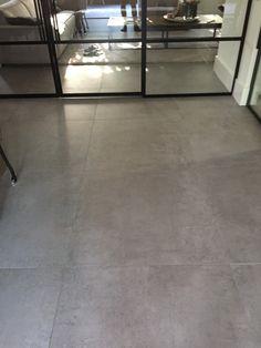 Floor tile cm concrete look Fairy gray Interior Design Inspiration, Home Interior Design, Interior Architecture, Live Edge Table, Grey Tiles, Living Room Flooring, Grey Flooring, Tile Floor, Sweet Home