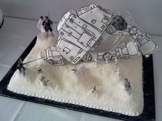 Star Wars Hoth Groom's Cake BEST DAMN CAKE IDEA EVER!