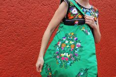 Bolso verde Huipil Skye por CasaOtomi en Etsy