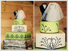 green-white-wedding-cake