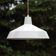 Large White Pendant Light Farm House Style by BlueMoonLights