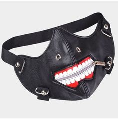 Ghoul Faux Leather Zipper Locomotive Mask