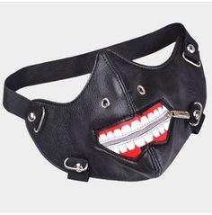 Ghoul Faux Leather Zipper Locomotive Mask