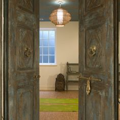 Yoga Room doors lighting