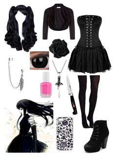 """""""Creepypasta: Daughter of Jane the Killer"""" by ender1027 ❤ liked on Polyvore featuring Monsoon, Commando, Therapy, David Yurman, Zwilling J.A. Henckels, Essie and Bling Jewelry"""