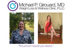 "Jeanine - 44 lbs. lost    Dr. Girouard's methods made it easy. I feel energetic when I am on the diet. Better, in fact than I feel when I just eat as much of whatever I want. When I had tried to diet before just through calorie reduction, my energy level would decline, so much so that it wasn't worth it. The weight began melting off me. A lady I work with began calling me ""the incredible shrinking woman."" I loved that and smiled each time I thought of her saying it."