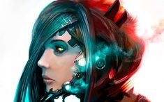 science fiction women cyborgs artwork fantasy art robots concept art androids  Pictures and Images