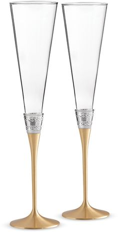 Vera Wang for Wedgwood - With Love Toasting Flutes - Set of 2