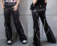 Punk Rave Gothic womens mens harem pants Trousers hip hop Casual Visual Kei Rock #punkrave #CasualPants