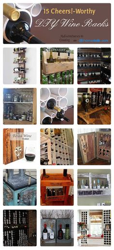 15 {Cheers!-Worthy} DIY Wine Racks | curated by 'Adventures in Creating' blog!