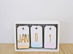 Best DIY Gifts for Girls - DIY Ombre Calendar - Cute Crafts and DIY Projects that Make Cool DYI Gift Ideas for Young and Older Girls, Teens and Teenagers - Awesome Room and Home Decor for Bedroom, Fas (Cheap Diy Desk)