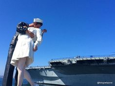 "Port of San Diego with ""The Kiss Unconditional Surrender "" 