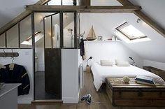 Schlafzimmer im Dachgeschoss Masion Le Matelot | Wohnideen einrichten