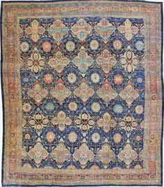 Persian Bidjar rug, 17'5 x 18'7, Circa 1880, Landry and Arcari gallery