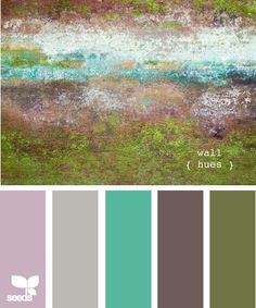color palette for the home  Brown: Great Room Teal: Master Bedroom Grey: Guest Bathroom Green: Guest Bedroom Purple: Craft Room/ Office